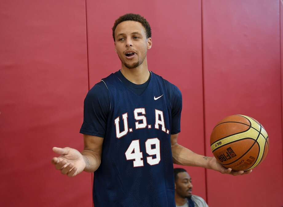 LAS VEGAS, NV - AUGUST 11:  Stephen Curry #49 of the 2015 USA Basketball Men's National Team attends a practice session at the Mendenhall Center on August 11, 2015 in Las Vegas, Nevada.  (Photo by Ethan Miller/Getty Images) Photo: Ethan Miller, Getty Images