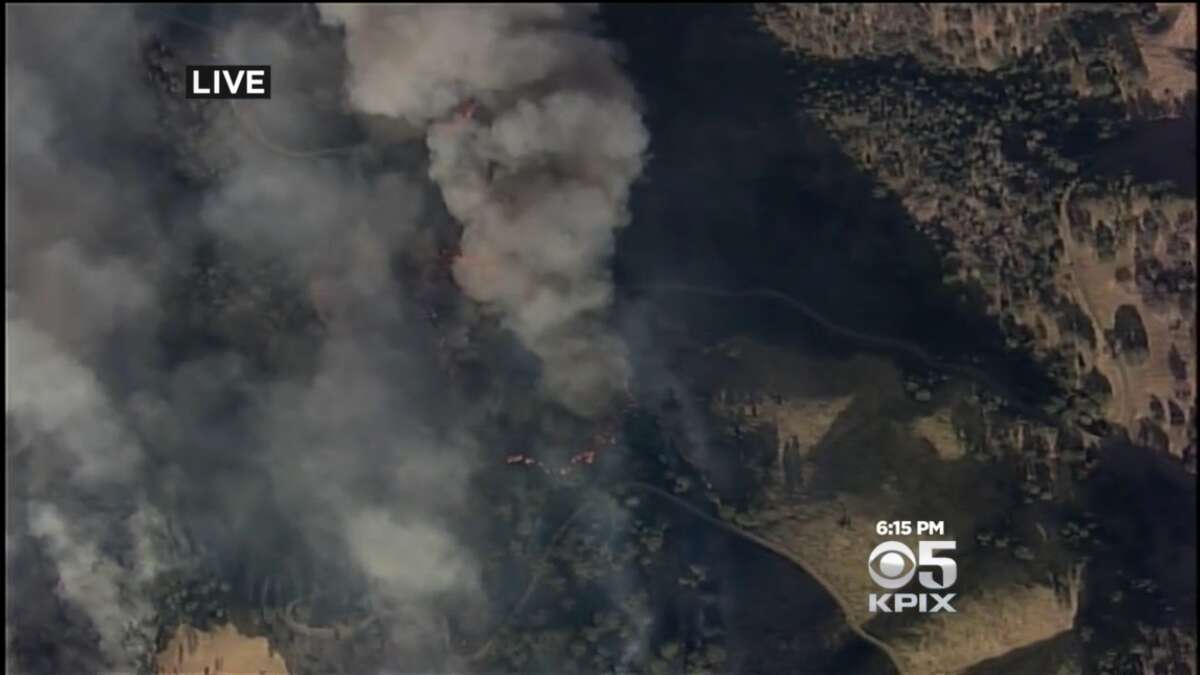 The large Tesla Fire was burning east of Livermore on Wednesday, Aug. 19, 2015.