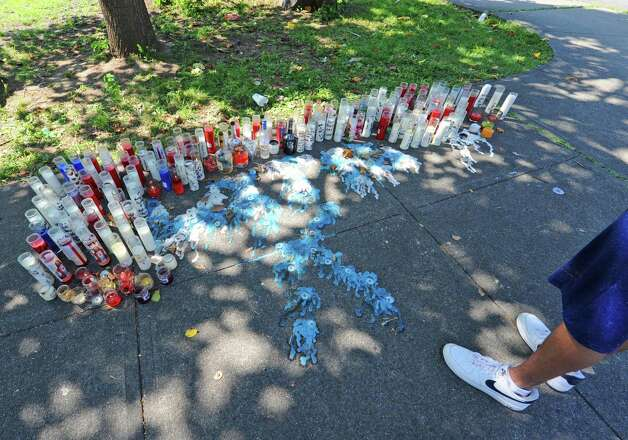 A memorial to Ahziarh Carter who was killed at the corner of Hutton and Old Sixth Avenue on Wednesday Aug. 19, 2015 in Troy, N.Y.  (Michael P. Farrell/Times Union) Photo: Michael P. Farrell / 00033064A