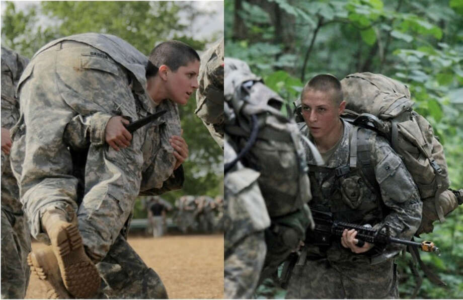 Capt. Kristen Griest, left, and 1st Lt. Shaye Haver in August became the first female soldiers ever to graduate from Ranger School. Photo: HANDOUT, STR / THE WASHINGTON POST