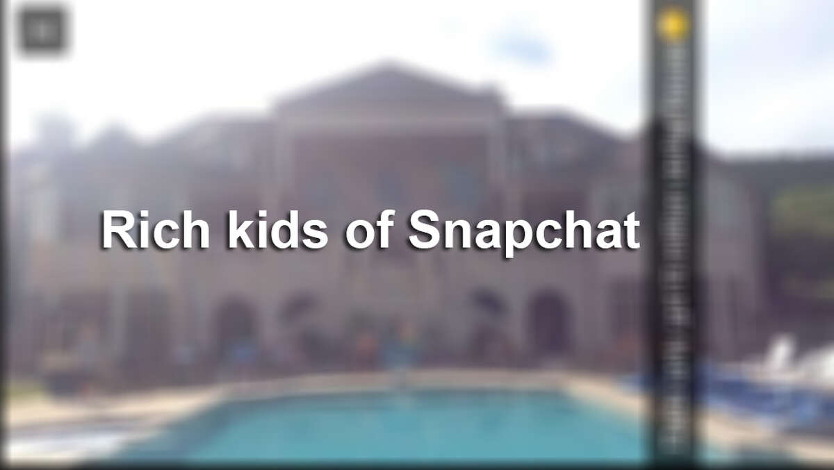 Rich kids have been flaunting it on Snap Chat.
