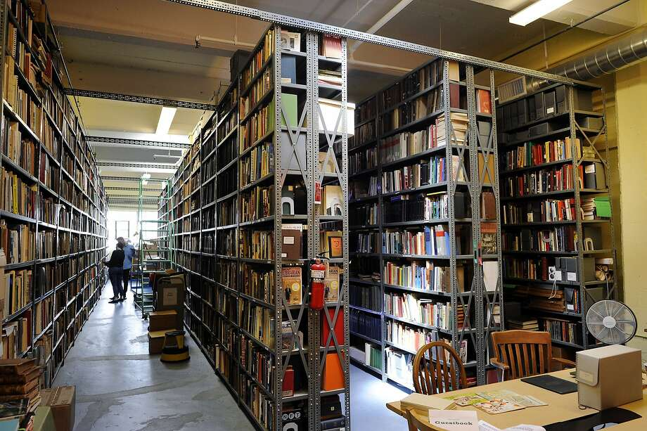 Shelves are stacked to the ceilings with books at the Prelinger Library. Photo: Michael Short, Special To The Chronicle