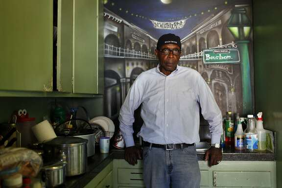 Walter Turner poses for a photo in the kitchen of his Bayview home, Wednesday, August 19, 2015. His family sought refuge with him during the aftermath of Hurricane Katrina. Ten years later, his daughter and grandkids are mostly back home in New Orleans but their memories of the year they spent in San Francisco are still vivid.  August 29th is the 10th anniversary of Hurricane Katrina making landfall in New Orleans, a city that has recovered in some ways but is suffering from many of the same issues that San Francisco is -- displacement, affordability, gentrification.