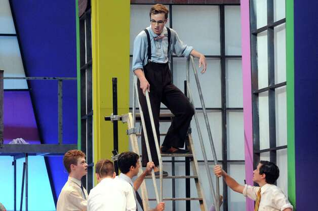 """The Park Playhouse performance of """"The Pajama Game"""" at Washington Park on Wednesday Aug. 19, 2015 in Troy, N.Y.  (Michael P. Farrell/Times Union) Photo: Michael P. Farrell / 00033071A"""
