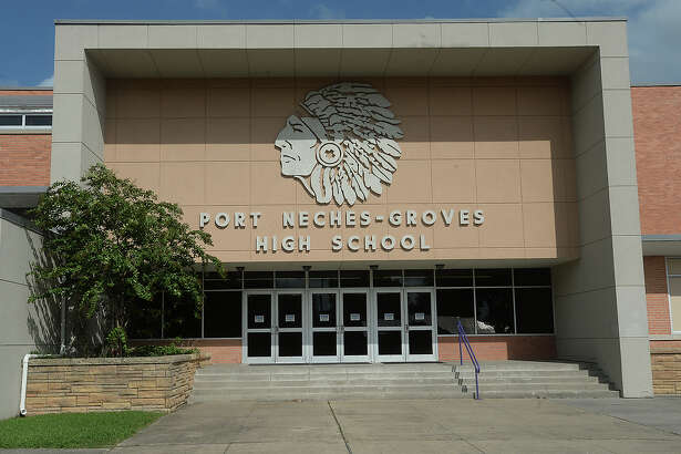 Port Neches - Groves High School is slated to get a new statue honoring its Indian Spirit mascot, thanks to the efforts of an alumni group spearheaded by Bill Sealey.   Photo taken Wednesday, August 19, 2015  Kim Brent/The Enterprise
