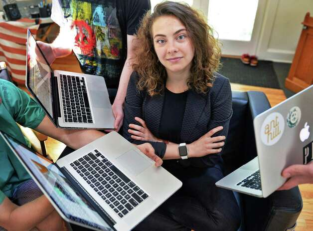 Ant Hill CEO Marcella Jewell in the main office space of their Hacker House, where young entrepreneurs live and work Thursday July 2, 2015 in Saratoga Springs, NY. (John Carl D'Annibale / Times Union) Photo: John Carl D'Annibale / 00032444A