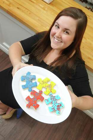 Sara Mae Hickley, owner Puzzles Bakery and Cafe in Schenectady. (Michael P. Farrell / Times Union)