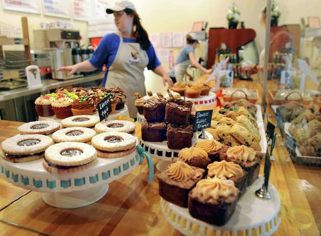 A selection of pastries is on the counter on Tuesday, June 16, 2015, at Puzzles Bakery and Cafe in Schenectady, N.Y. (Cindy Schultz / Times Union) Photo: Cindy Schultz / 00032293A