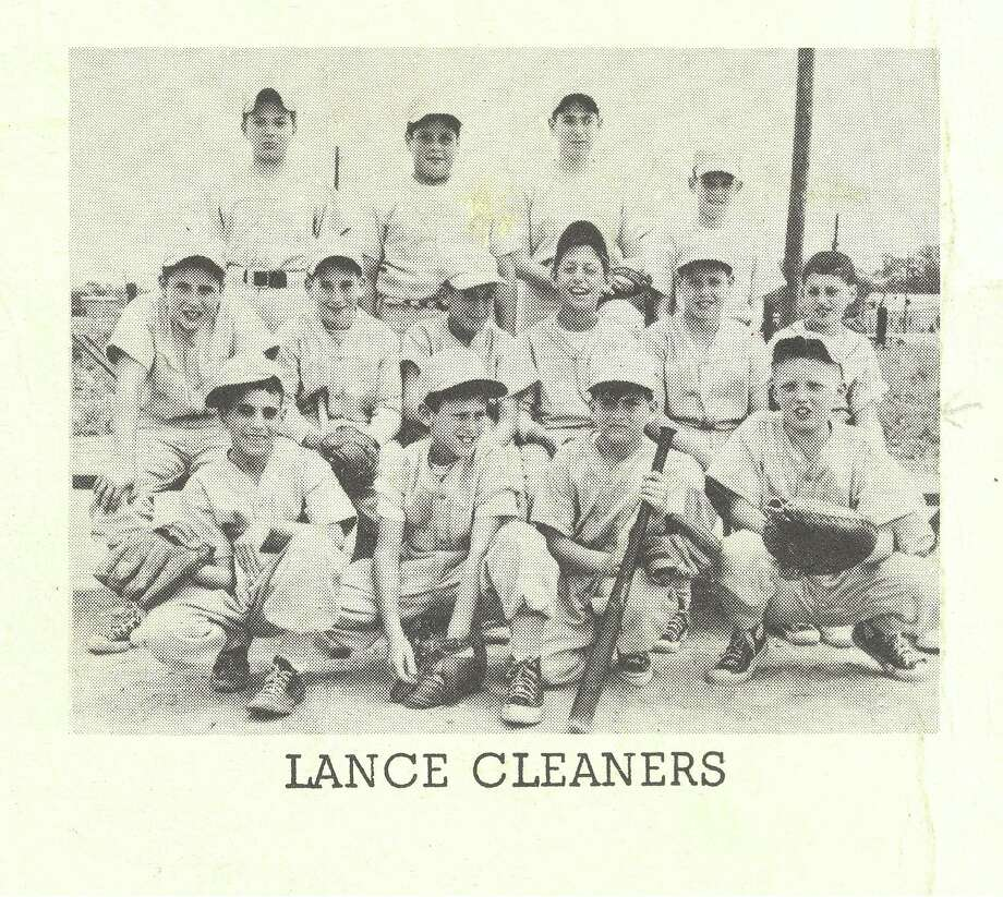 Donald Trump, far right, front row with  catcher's mitt, played on the Lance Cleaners Little League team. Photo: Courtesy Photo