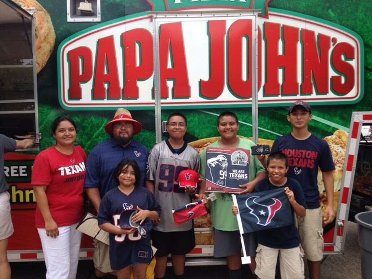 Papa John's If the Texans win, customers receive 50 percent off online pizza orders. When: Day after the Texans win. The catch: Customers must enter promo code TEXANS with their online order.