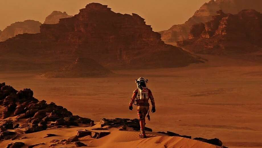 "Matt Damon in Ridley Scott's ""The Martian."" A NASA scientist praised the director for his dedication to accuracy. Photo: 20th Century Fox"