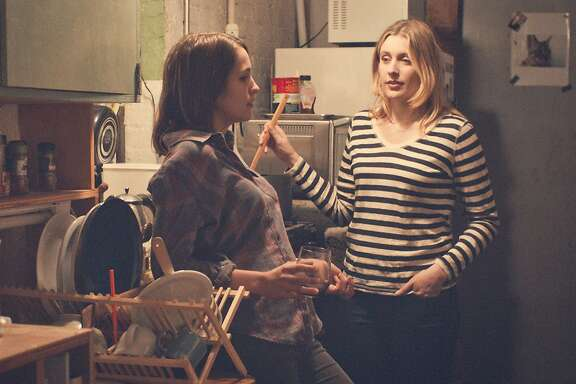 "Lola Kirke, left, as Tracy and Greta Gerwig as Brooke in ""Mistress America,"" directed by Noah Baumbach. Brooke is a quirky but not always likable character making her way in Manhattan who takes soon-to-be-stepsister Tracy under her wing. Said Baumbach of the Brooke character: ""We were thinking about those people you meet when you're younger, who are a little bit older and seem to know the world in some way. ... But as you start to mature, maybe you see through the facade."" Illustrates FILM-MISTRESSAMERICA (category e), by Stephanie Merry © 2015, The Washington Post. Moved Friday, Aug. 14, 2015. (MUST CREDIT: Fox Searchlight Pictures.)"