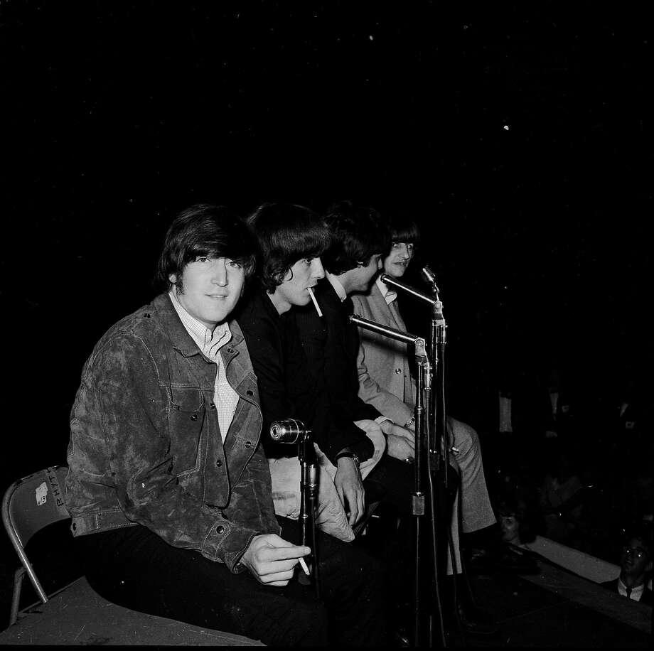 The Beatles onstage at the Cow Palace on Aug. 31, 1965. Photo: Art Frisch, SFC