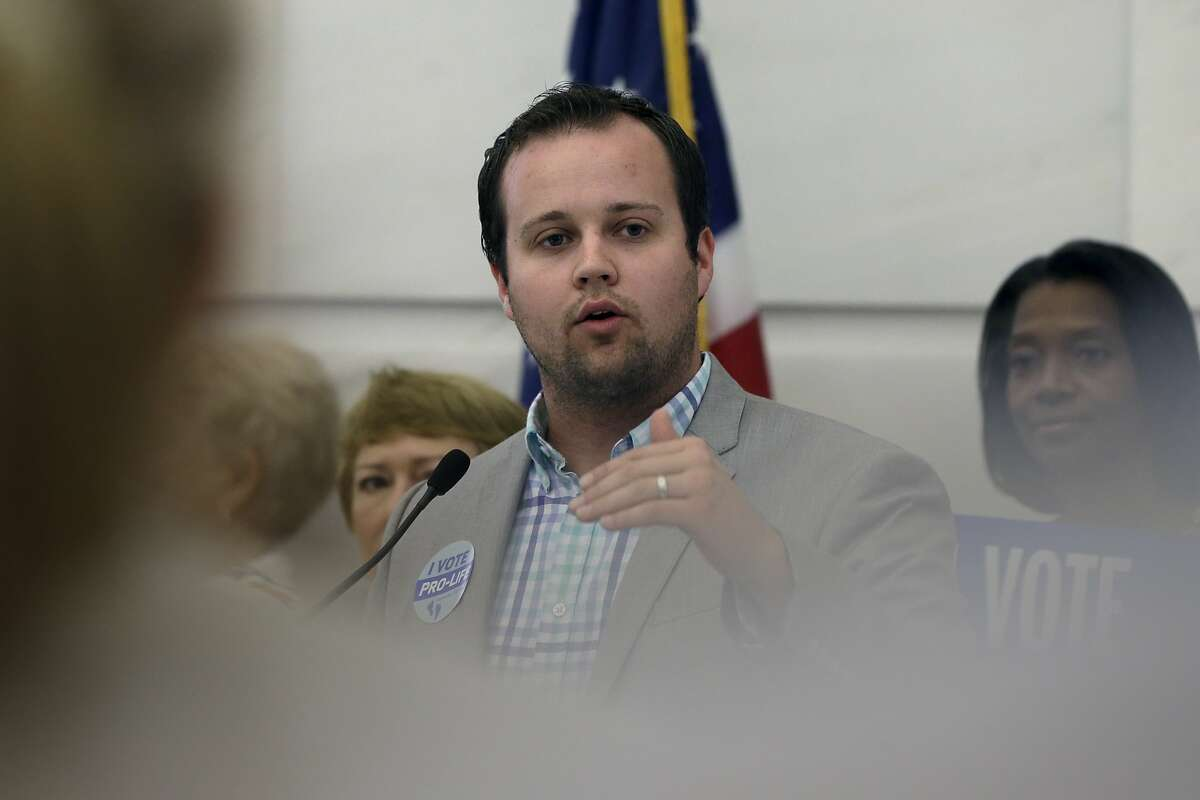 """FILE - In this Aug. 29, 2014, file photo, Josh Duggar, executive director of FRC Action, speaks in favor the Pain-Capable Unborn Child Protection Act at the Arkansas state Capitol in Little Rock, Ark. TLC network has set an airdate for its new documentary, """"Breaking the Silence,"""" to raise awareness of child sexual abuse at 10 p.m. EDT Aug. 30, 2015, the network said Thursday. The film was first announced last month when TLC pulled the plug on its hit series """"19 Kids and Counting"""" after reports surfaced that one of its stars, Josh Duggar, the oldest of the family's 19 children, had fondled four of his sisters and a baby sitter a dozen years before, when he was a teenager. (AP Photo/Danny Johnston, File)"""