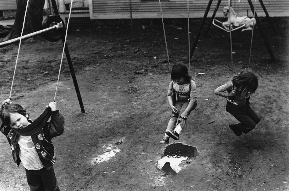 Three Children Playing on a Swing Set, 1979 Artist Unidentified (student of Neil Rappaport) Gelatin silver print, 6 ¼ x 9 ¼ inches Bennington Museum Collection, Gift of Neil Rappaport