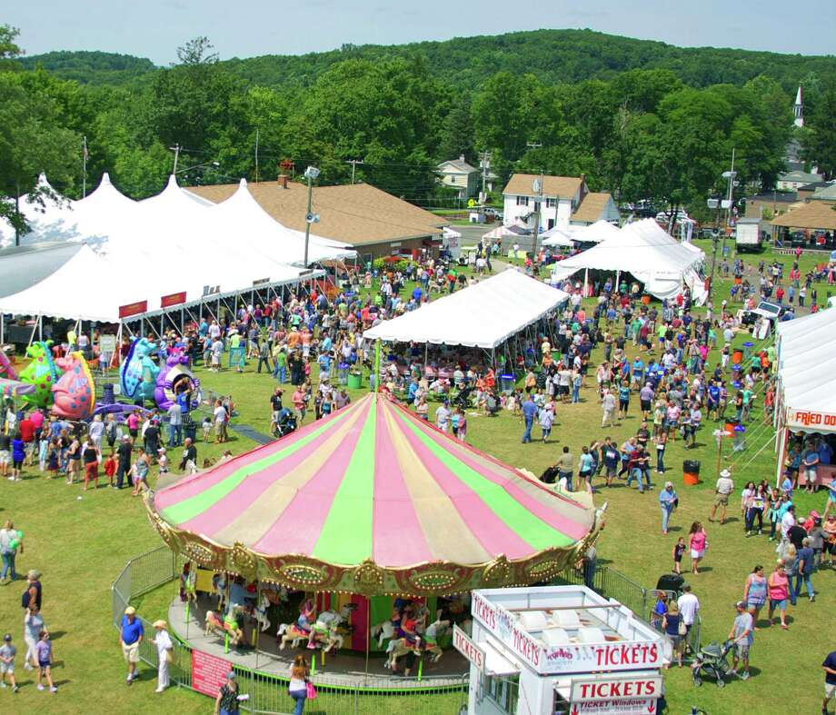 The view from the Ferris wheel during the 2014 Bridgewater Country Fair gives an observant patron an evocative panorama of the fair. Aug. 16, 2014 Photo: Trish Haldin / Trish Haldin / The News-Times Freelance