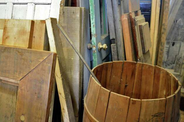 Repurposed wood at Silver Fox Salvage Friday  August 14, 2015 in Albany, NY.  (John Carl D'Annibale / Times Union) Silver Fox Salvage Friday August 14, 2015 in Albany, NY.  (John Carl D'Annibale / Times Union) Photo: John Carl D'Annibale / 00033008A
