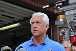 Washington Rep. Dave Reichert speaks at a Chelan fire station on Thursday, Aug. 20, 2015.