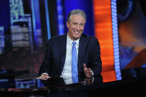 """NEW YORK, NY - AUGUST 06:  Jon Stewart hosts """"The Daily Show with Jon Stewart"""" #JonVoyage on August 6, 2015 in New York City.  (Photo by Brad Barket/Getty Images for Comedy Central)"""