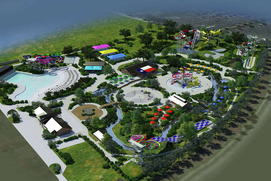 "Katy's ""Typhoon Texas"" waterpark is planned to open in May, featuring a 25,000-square-foot wave pool, a 1,345-foot lazy river and more than 13 rides and attractions. Photo: Courtesy Katy Typhoon Texas"