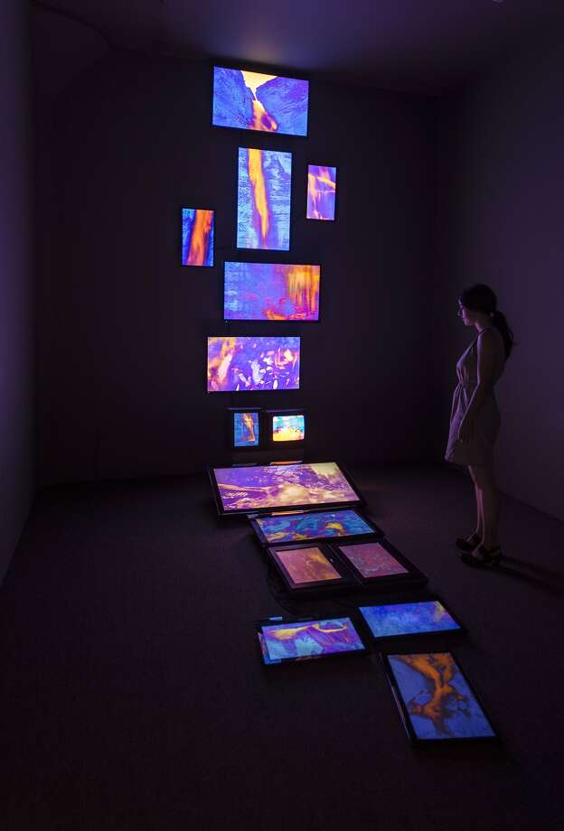 Kevin CooleyÕs 15-channel video installation ÒFallen WaterÓ is on exhibit at Catharine Clark Gallery through Aug. 29.  Credit: Kevin Cooley and Catharine Clark Gallery, San Francisco Photo: Kevin Cooley And Catharine Clark