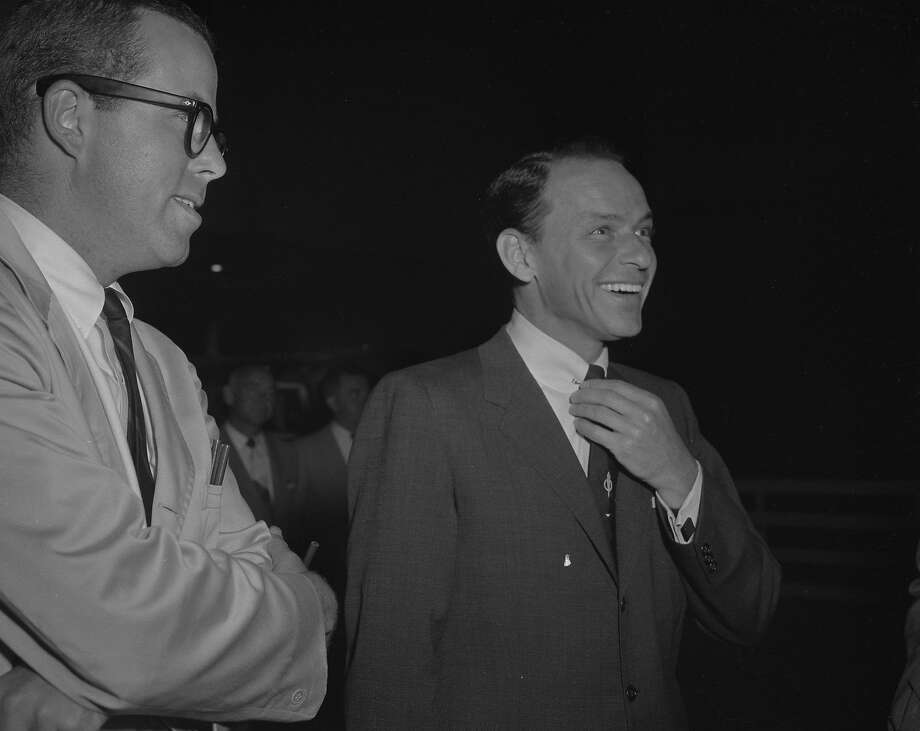 Frank Sinatra, seen at the Cow Palace in 1957, could be charming when meeting fans. Photo: Joe Rosenthal, The Chronicle