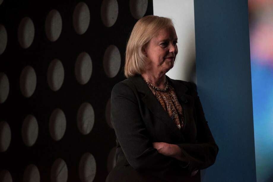 Meg Whitman, CEO of HP, watches the HP Discover 2015 conference in Las Vegas this summer.  Photo: David Paul Morris / © 2015 Bloomberg Finance LP