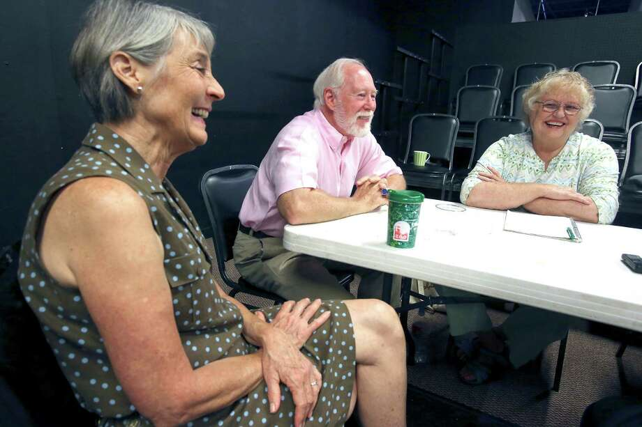 Classic Theater founding members Terri Pena Ross (from left), Allan S. Ross and Diane Malone talk about starting and sustaining a theater. Photo: William Luther / San Antonio Express-News / © 2015 San Antonio Express-News