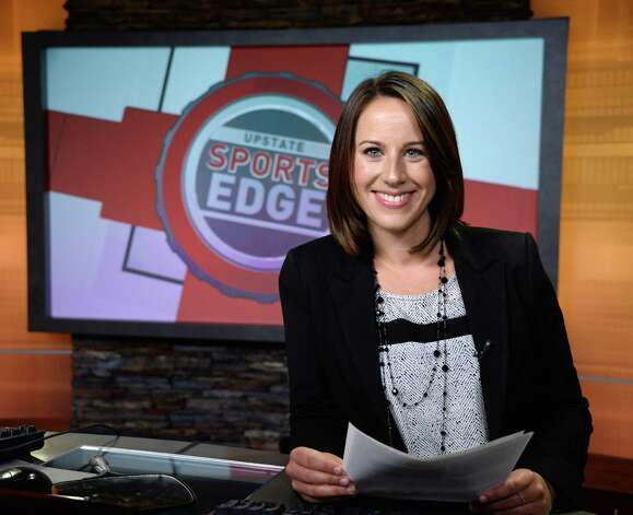 Brittany Devane on the set of Upstate Sports Edge at the WRGB Studios Thursday August 20, 2015 in Schenectady, NY.  (John Carl D'Annibale / Times Union) Photo: John Carl D'Annibale / 00033068A