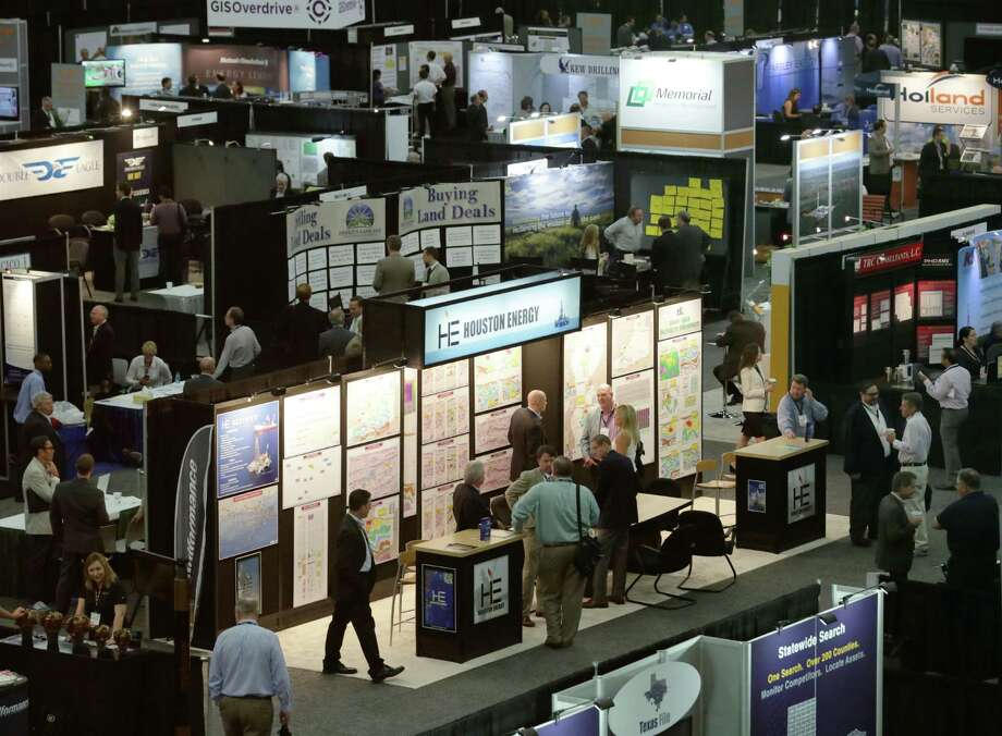 Drillers and oil field financiers gather Thursday at the North American Prospect Expo. Low oil prices overshadowed the event at the George R. Brown Convention Center. Photo: Jon Shapley, Staff / © 2015 Houston Chronicle