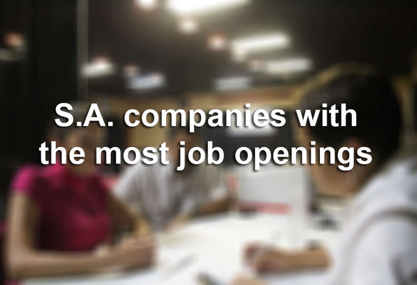 San Antonio companies who had the most job openings at the start of the summer.