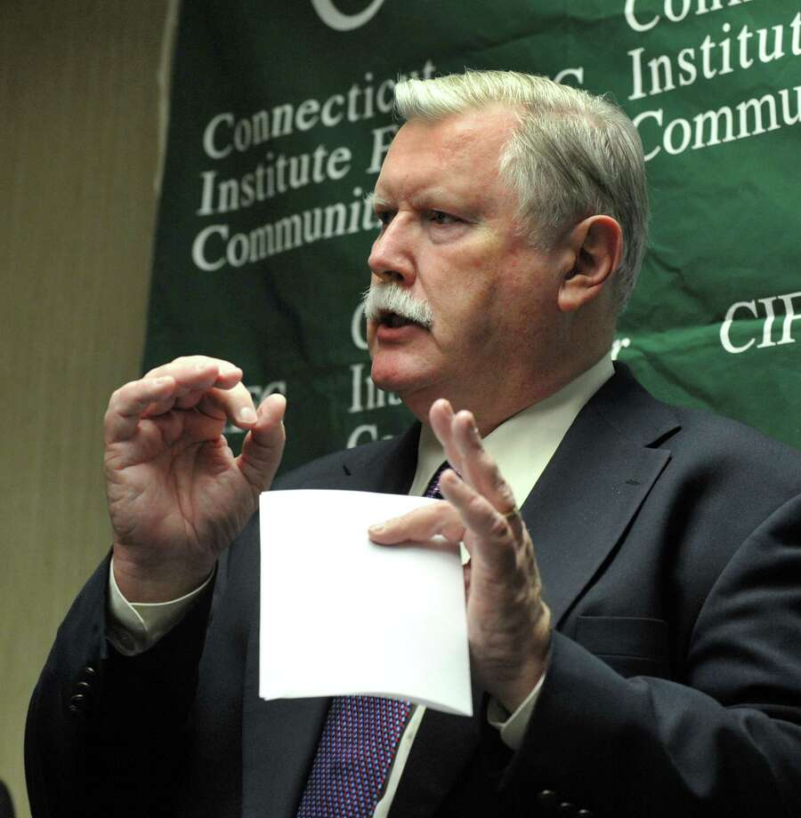 Connecticut Institute for Communities' CEO James Maloney speaks at a press conference in 2013 announcing a teaching program to help train primary care doctors. Photo: Carol Kaliff / Carol Kaliff / The News-Times