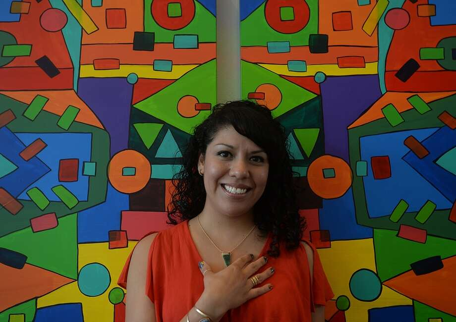 "Beaumont artist Ines Alvidres has a show opening August 23 in the cafe at the Art Museum of Southeast Texas. ""My Journey"" will be on display through November 1. Originally from Mexico, Alvidres moved to Beaumont 15 years ago and started making art only 3 - 4 years ago. Using rich, vibrant colors and line, the self-taught artist describes her process as a meditative act that is also influenced by the music she listens to while creating. She feels they come from a place deep in her core that finds its way out. While working, she says, ""I don't know where the next lines will go and where they will meet,"" adding, ""I have no rules that I follow. The work is made with no sense of technique or control. It's very raw and authentic. Because I never learned the rules, I don't feel like I'm breaking them."" An artist reception will be held on the opening  of the exhibit from 2 - 4 p.m. Photo taken Tuesday, August 11, 2015 Kim Brent/The Enterprise Photo: Kim Brent/The Enterprise"