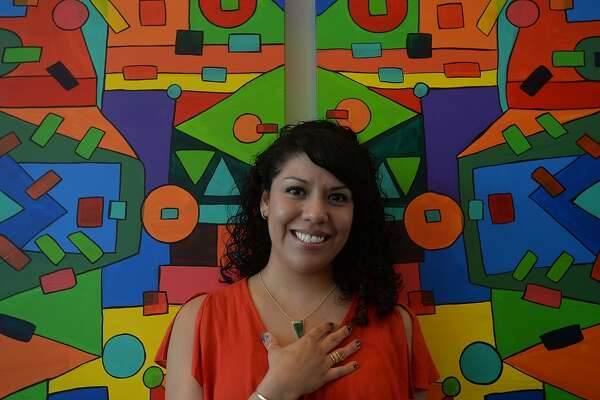 "Beaumont artist Ines Alvidres has a show opening August 23 in the cafe at the Art Museum of Southeast Texas. ""My Journey"" will be on display through November 1. Originally from Mexico, Alvidres moved to Beaumont 15 years ago and started making art only 3 - 4 years ago. Using rich, vibrant colors and line, the self-taught artist describes her process as a meditative act that is also influenced by the music she listens to while creating. She feels they come from a place deep in her core that finds its way out. While working, she says, ""I don't know where the next lines will go and where they will meet,"" adding, ""I have no rules that I follow. The work is made with no sense of technique or control. It's very raw and authentic. Because I never learned the rules, I don't feel like I'm breaking them."" An artist reception will be held on the opening  of the exhibit from 2 - 4 p.m. Photo taken Tuesday, August 11, 2015 Kim Brent/The Enterprise"