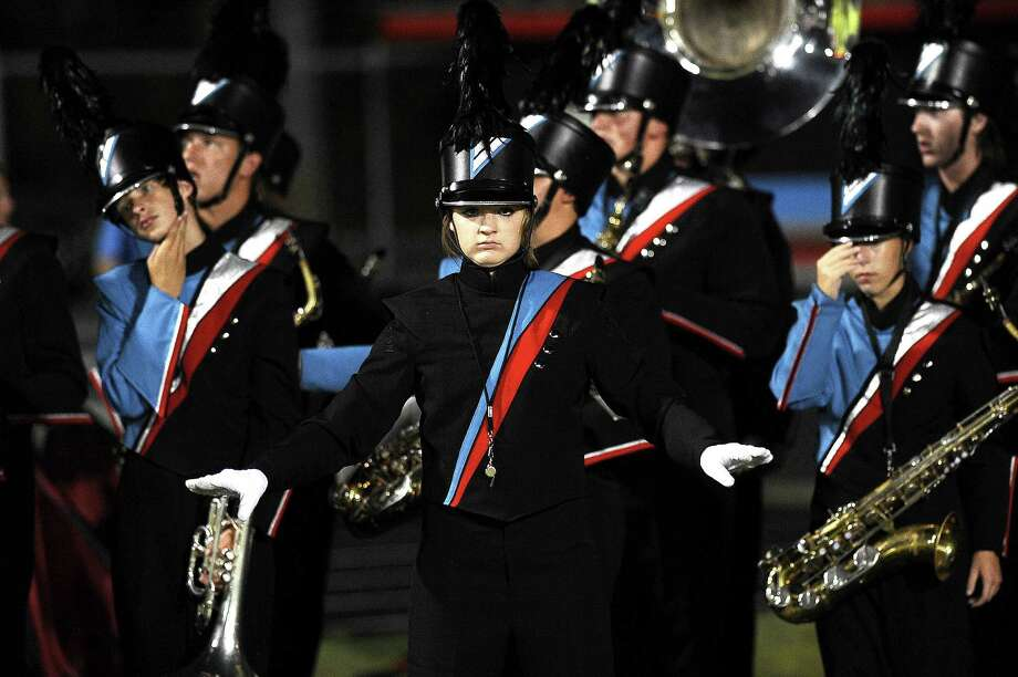 Lumberton band plays during the first quarter during their game against Silsbee at Lumberton on Friday, September 14, 2012.  Photo taken:  Randy Edwards/The Enterprise