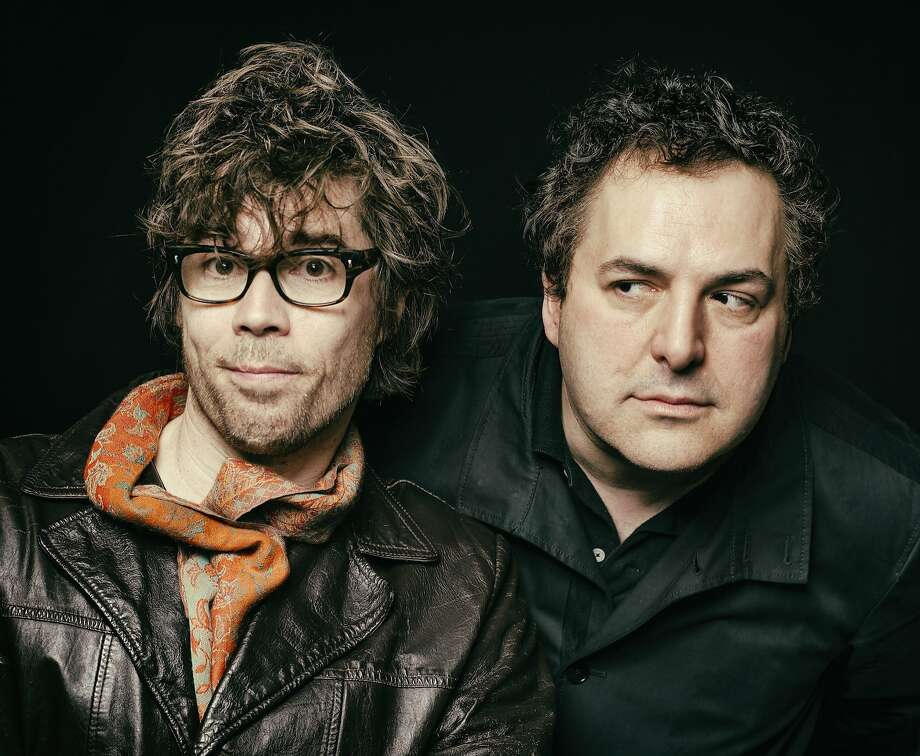 "Above: Tom Scharpling (right) and Jon Wurster will do ""The Best Show With Tom Scharpling"" live. Right: Tony Bedard (left) and Andy Oglesby are San Franciscans who created the theme music for the cult hit radio show. Photo: Jason Marck"