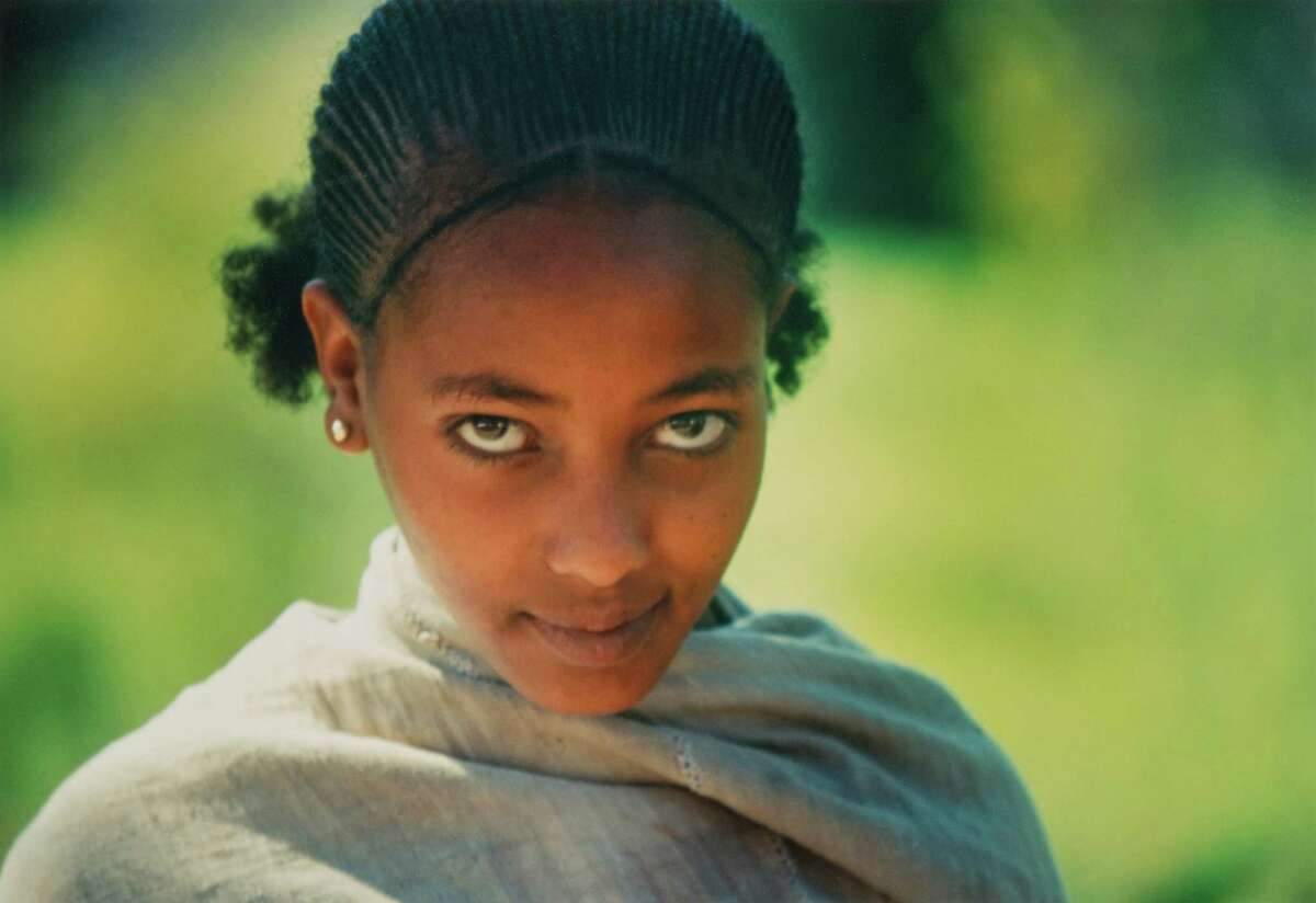 A young Ethiopian girl is one of the many subjects of the late Theodore Nierenberg's photographs taken during travels with his wife, Martha, who recently donated about 50 of his works to the Bruce Museum. About 25 are on display through Nov. 29.