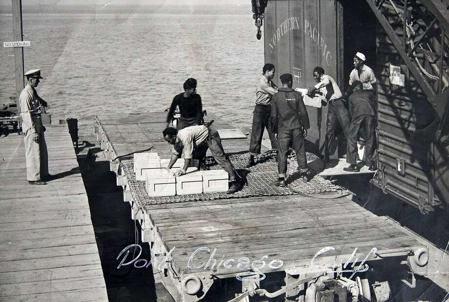 Workers load ammunition at Port Chicago in 1943. Photo: U.S. Navy Photo Via Percy Robins, AP