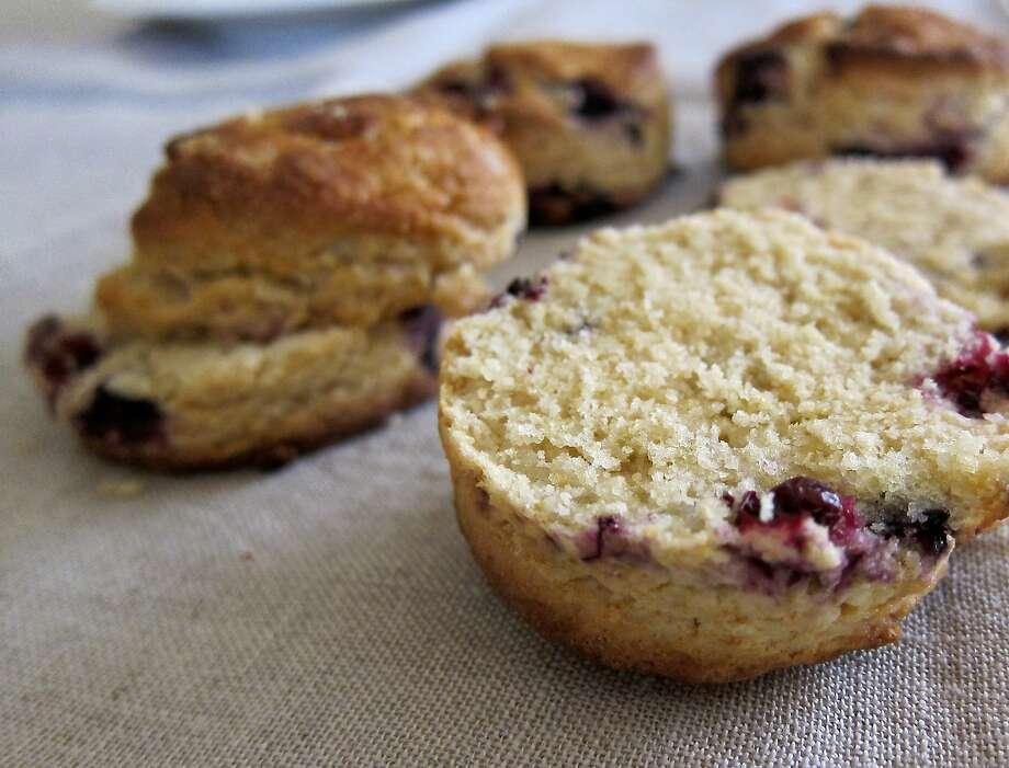 Huckleberry scones. Photo: Nicole Spiridakis