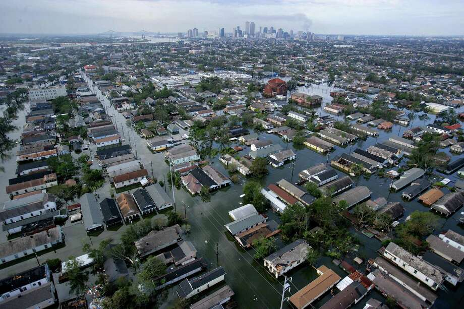 This aerial photo shows the devastation caused by the high winds and heavy flooding in the greater New Orleans area. Photo: VINCENT LAFORET, AP / THE NEW YORK TIMES