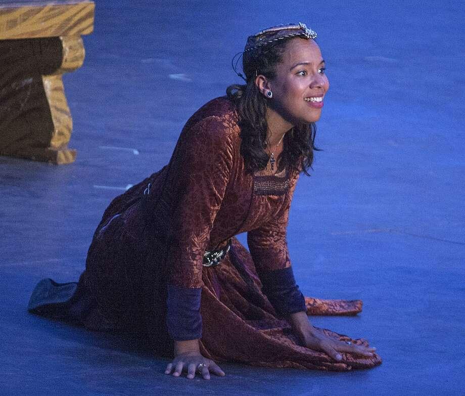 Juliet (Lauren Spencer) in the Presidio show. Photo: John Western