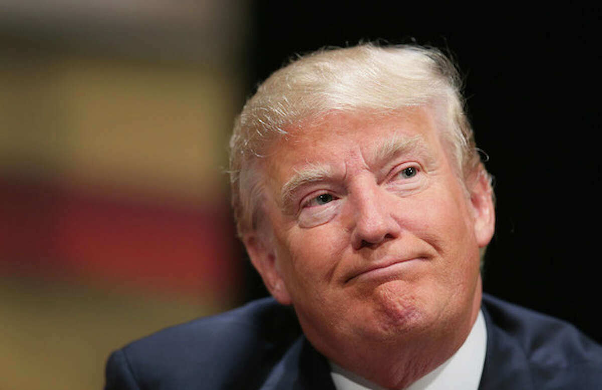 Donald Trump insulted Asians by using broken English during a campaign stop in Dubuque, Iowa.