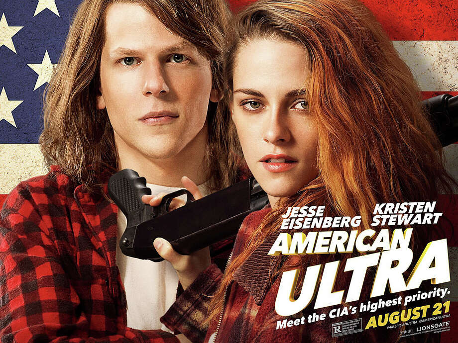 """American Ultra"" is a new movie starring Jesse Eisenberg and Kristen Stewart. Photo: Contributed / Contributed Photo / Westport News"