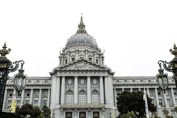 San Francisco City Hall is seen on Thursday, Aug. 20, 2015 in San Francisco, Calif.