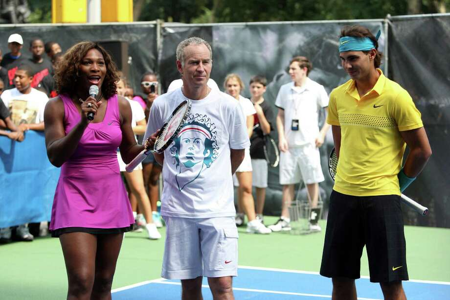 "John McEnroe (center) said he could take world No. 1 Serena Williams (left), but admitted both would have a lot to lose by playing each other.Click through the gallery to see photos from the 1973 ""Battle of the Sexes"" between Billie Jean King and Bobby Riggs at the Astrodome. Photo: Bryan Bedder, Getty Images / 2009 Getty Images"