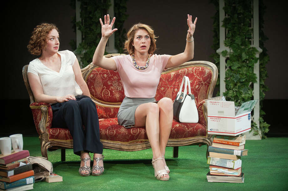 "Barrington Stage Company Amanda Quaid and Kate Loprest star in ""Engagements"" at the Barrington Stage Company through Aug. 30."