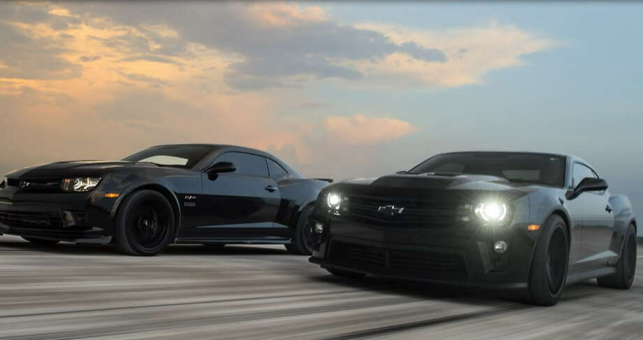 Two Chevy Cameros, customized at Hennessey Performance Engineering, go head-to-head on a 65,000-foot private runway. Photo: Hennessey Performance Engineering