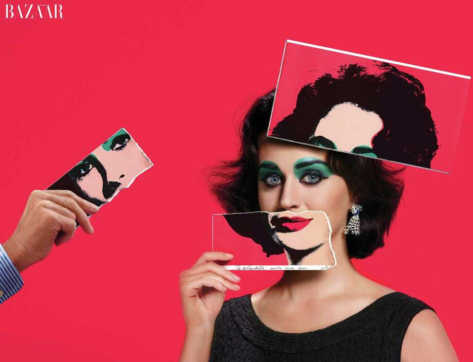 Katy Perry as Elizabeth Taylor in the September issue of Harper's BAZAAR. Photo: Jean-Paul Goude