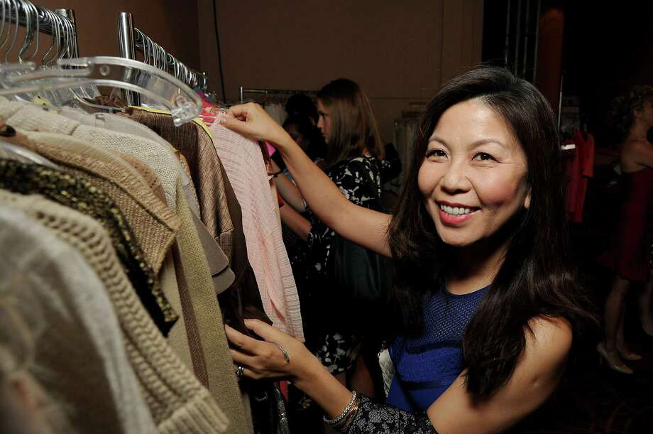 Diana Sun shops the pop-up. Photo: Dave Rossman, Freelance / Freelalnce