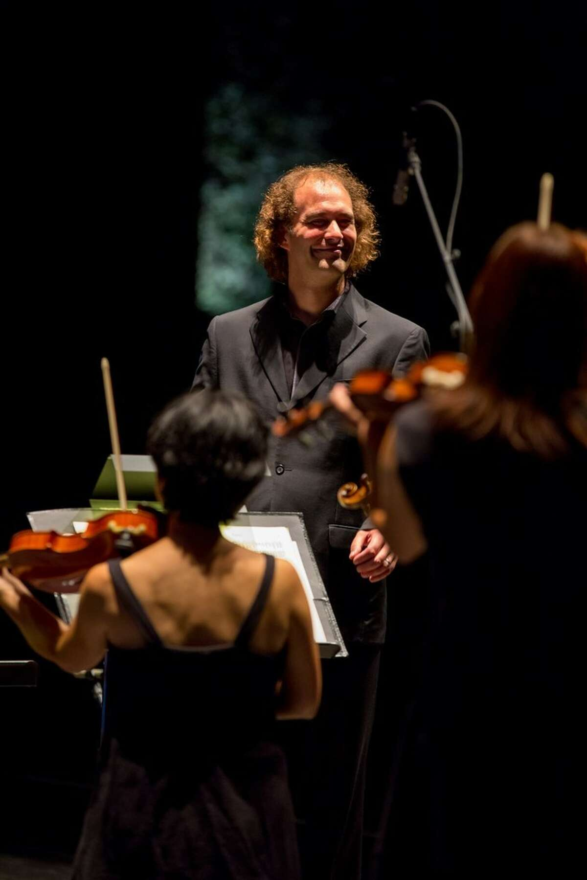 Conductor Antoine Plante leads Mercury the Orchestra Redefined during Mercury @ Miller 2014.